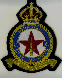 RAF BLAZER BADGE - SQNS 26 - 100