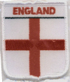 Embroidered Badges - England (St George Cross)Lge Shield