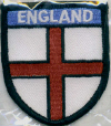 Embroidered Badges - England (St George Cross)Small Shield