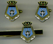 HMS GLOUCESTER - Cuff Links & Tie Clip Set