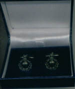 Cuff Links - Royal Marines Beret Badge Darkened
