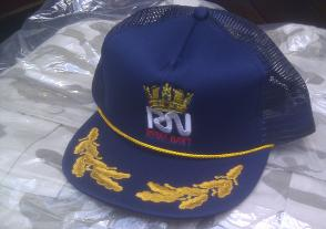 BASEBALL CAP Braided Peak - Royal Navy