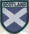 Embroidered Badges - Scotland (Saltire)
