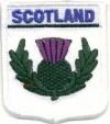 Embroidered Badges - Scotland (Thistle)