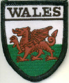 Embroidered Badges - Wales (Dragon)