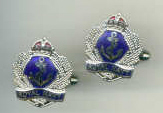 Cuff Links - Filigree Crown & Anchor