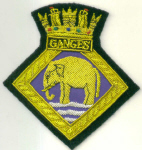 Blazer Badge - HMS GANGES