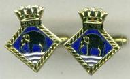 Cuff Links - HMS GANGES