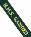Cap Tally HMS GANGES