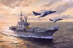 HMS HERMES and Sea Harriers